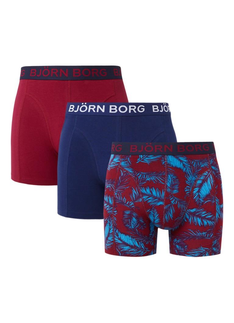 Björn Borg Boxershorts in uni en dessin in 3-pack