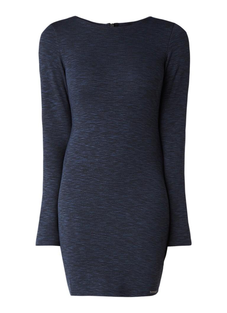 Superdry Augusta bodycon jurk van jersey donkerblauw