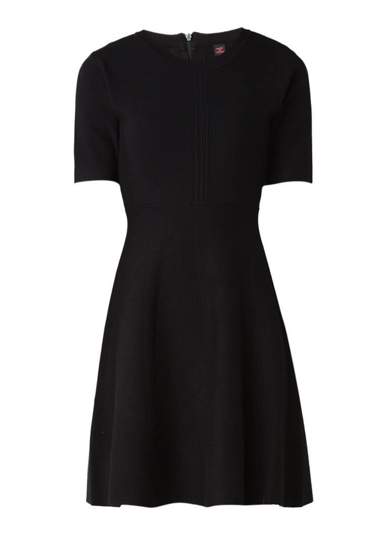 Superdry Lexi gebreide A-lijn jurk met siernaad zwart