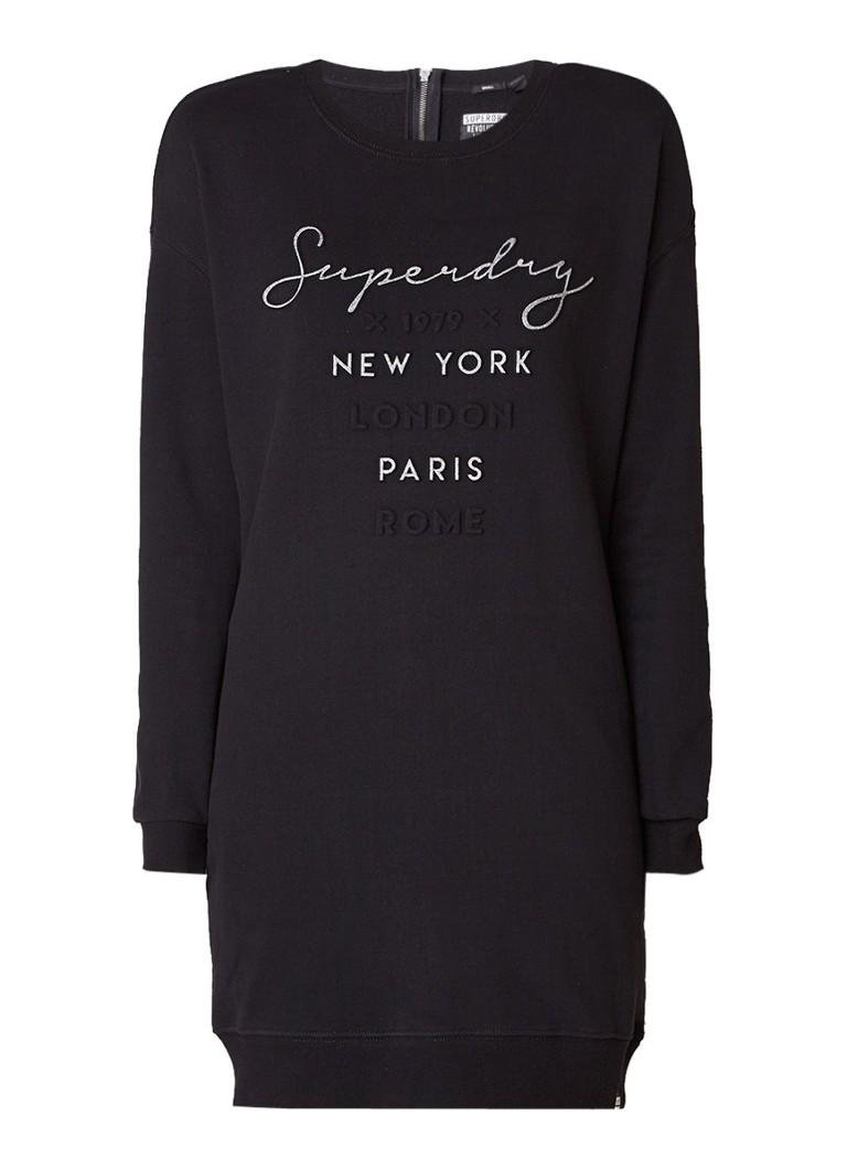 Superdry Sweaterjurk met gestanste logoprint zwart