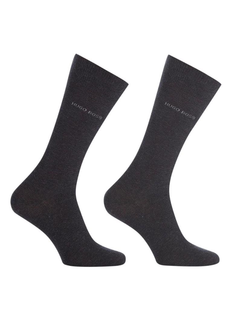 BOSS 2-pack sokken grijs