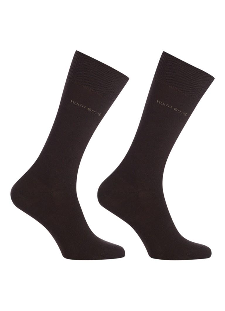 BOSS 2-pack sokken bruin