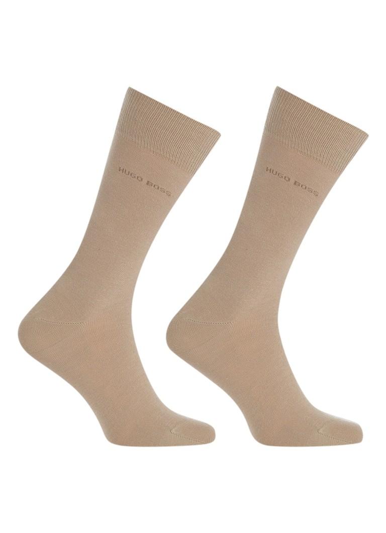 BOSS 2-pack sokken beige