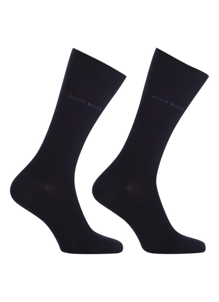 BOSS 2-pack sokken donkerblauw