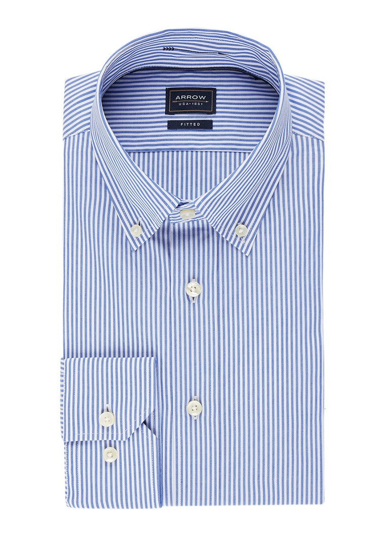 Arrow Fitted button down-overhemd met streepdessin