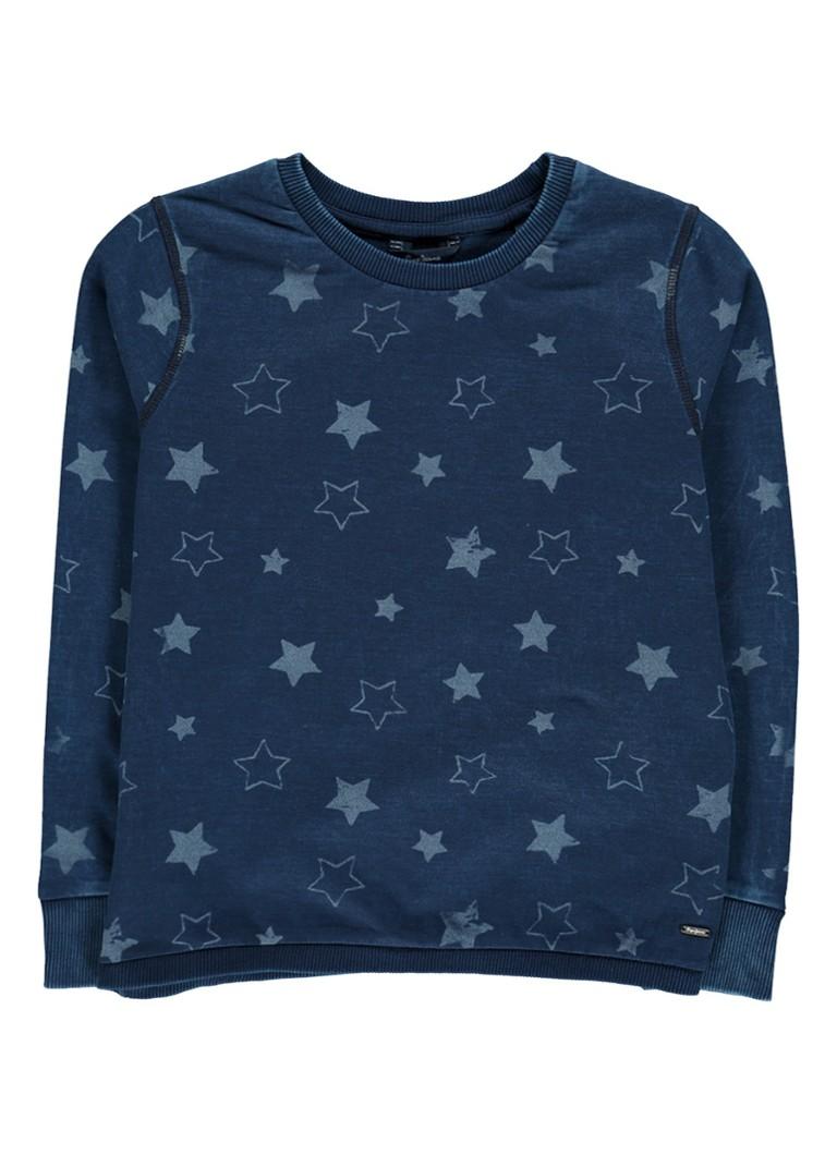 Pepe Jeans Sweater van katoen met sterrendessin