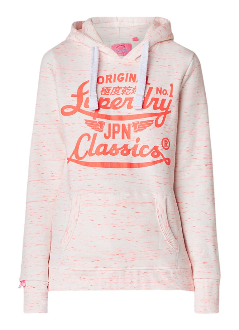 Superdry Stacker Waves hoodie met logoprint