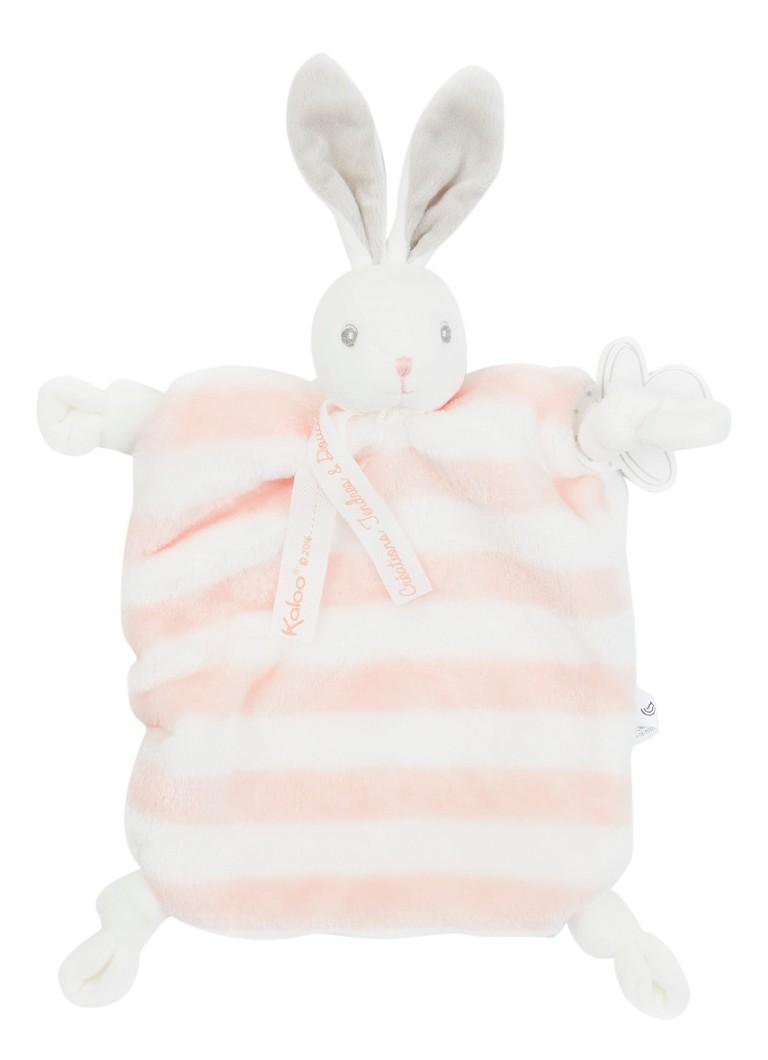 Kaloo Knuffeldoek konijn gestreept in giftbox