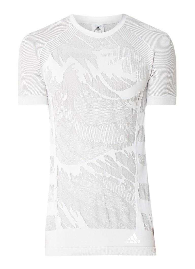 adidas Ultra Primeknit Parley hardloop T-shirt met ingeweven dessin