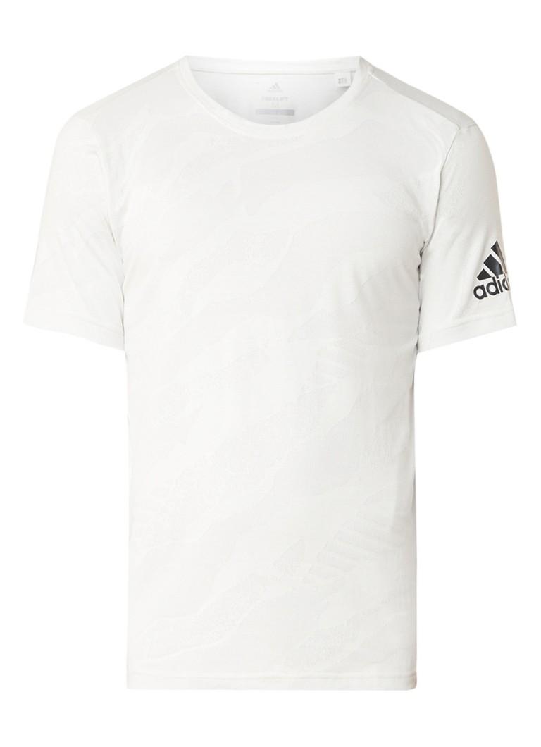adidas Freelift climalite T-shirt met camouflageprint