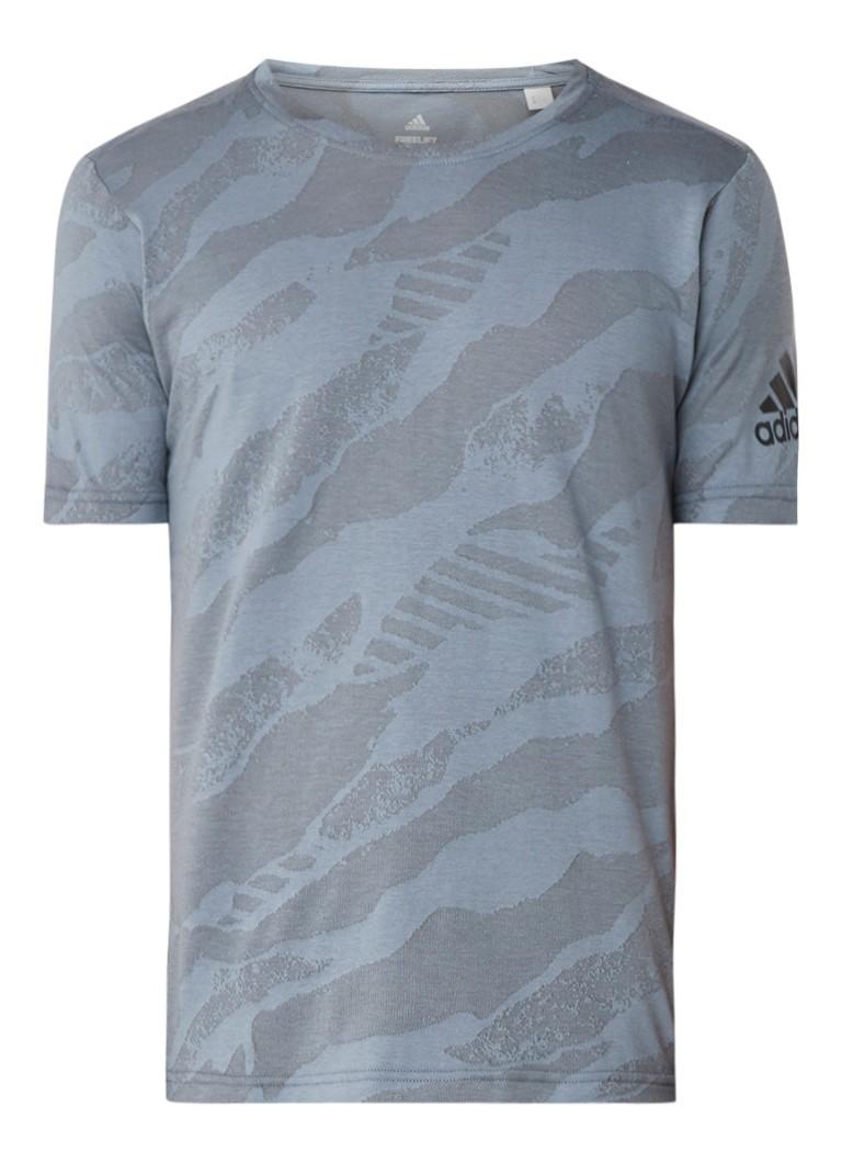 adidas Freelift trainingsshirt met ingeweven dessin