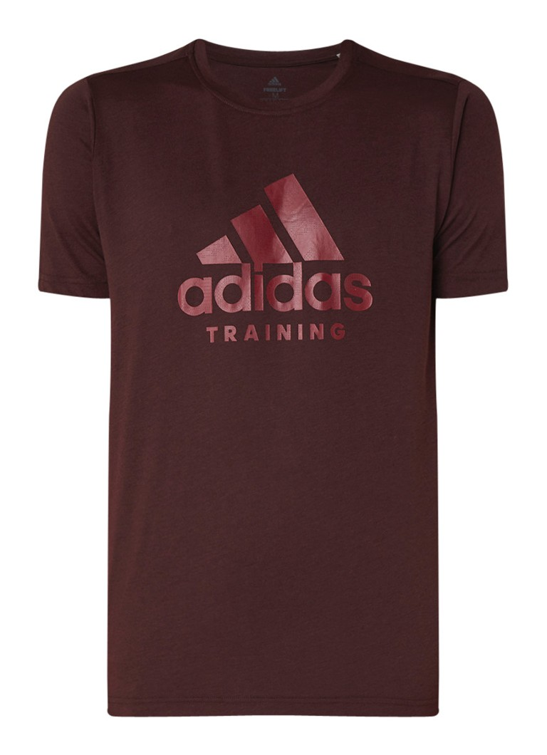 adidas Trainings T-shirt met logoprint en ClimaLite