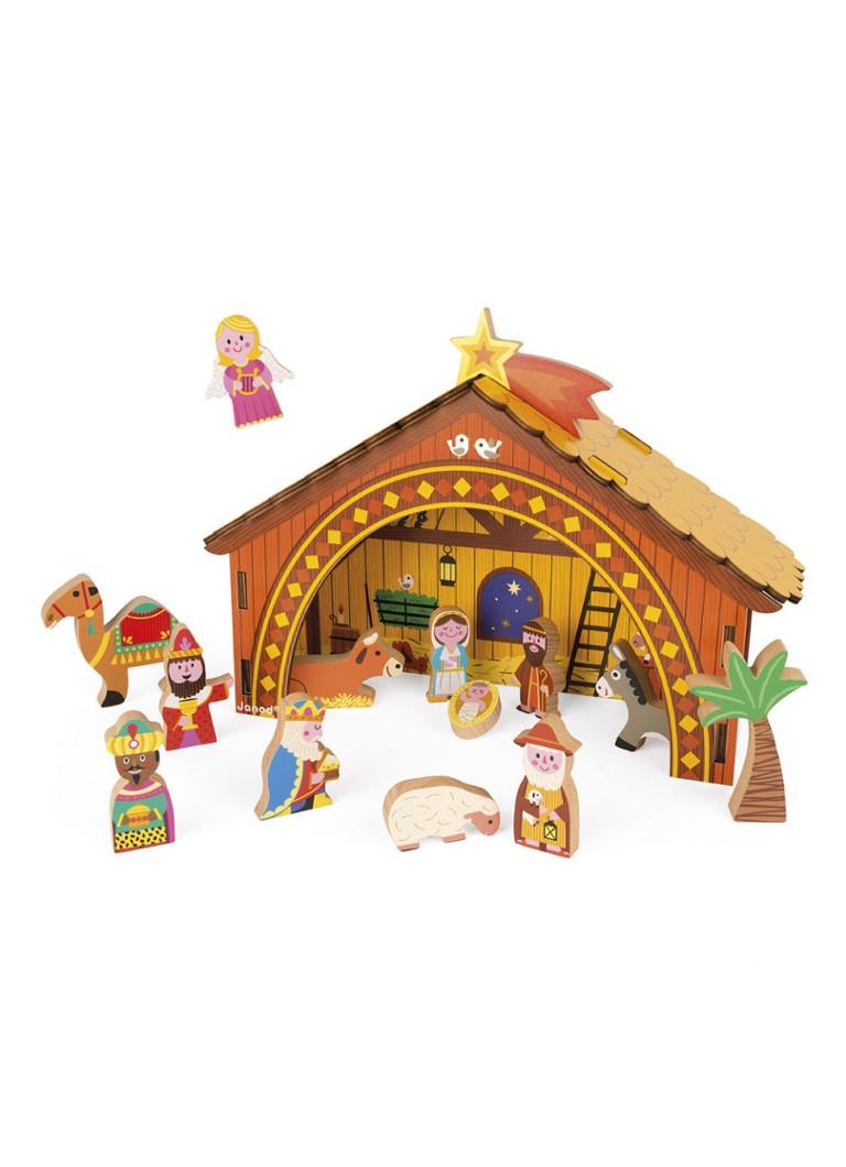 Janod Kerststal van hout