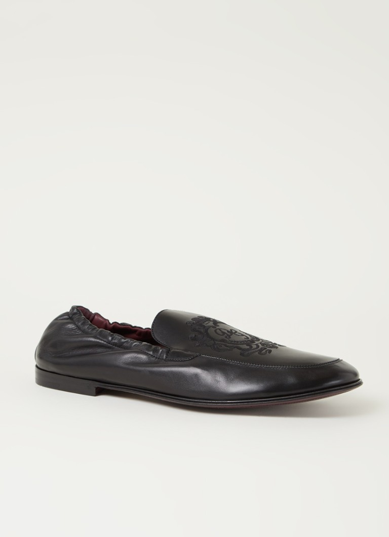 Dolce & Gabbana Ariosto loafer van kalfsleer met borduring online kopen