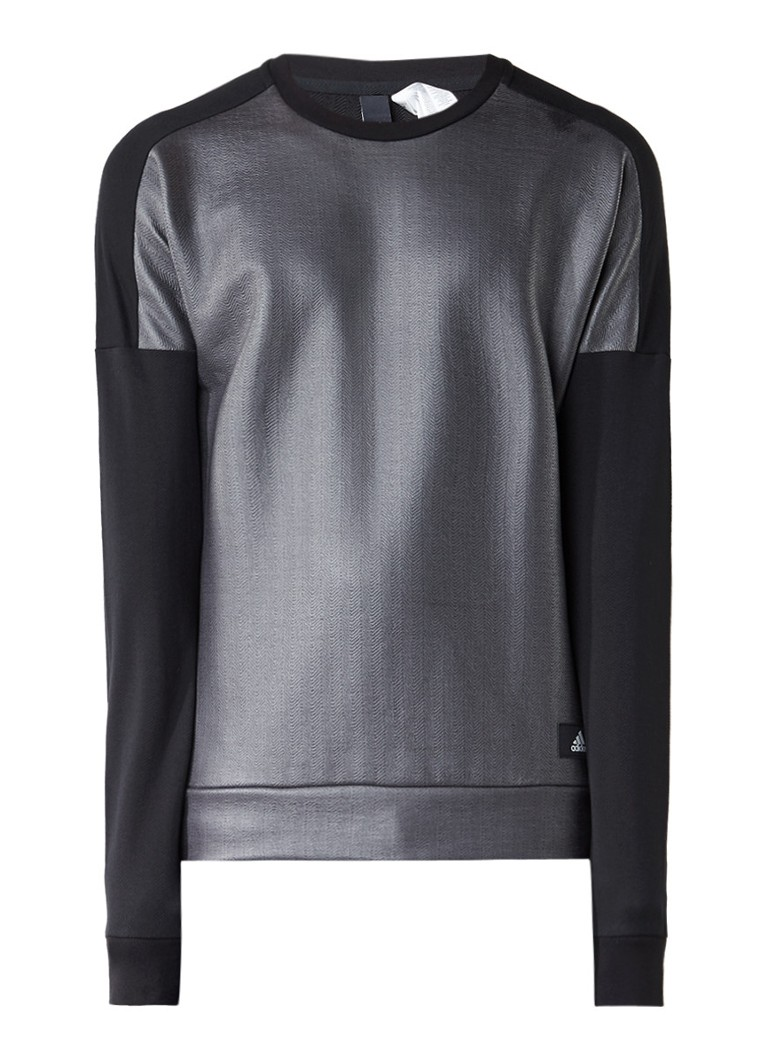 Truien en vesten adidas ID sweater met contrasterend voorpand Zwart