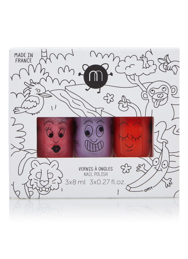 nailmatic KIDS Jungle waterbased nail polish - nagellak set van 3