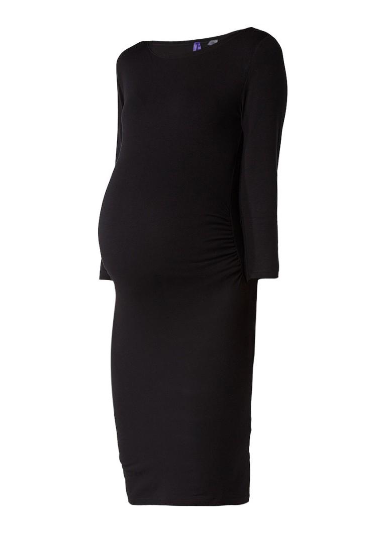 Seraphine Tessa zwangerschapsjurk van jersey zwart