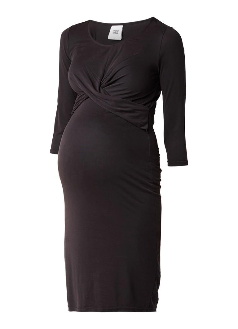 Mama Licious Tori zwangerschapsjeans met overslagdetail zwart