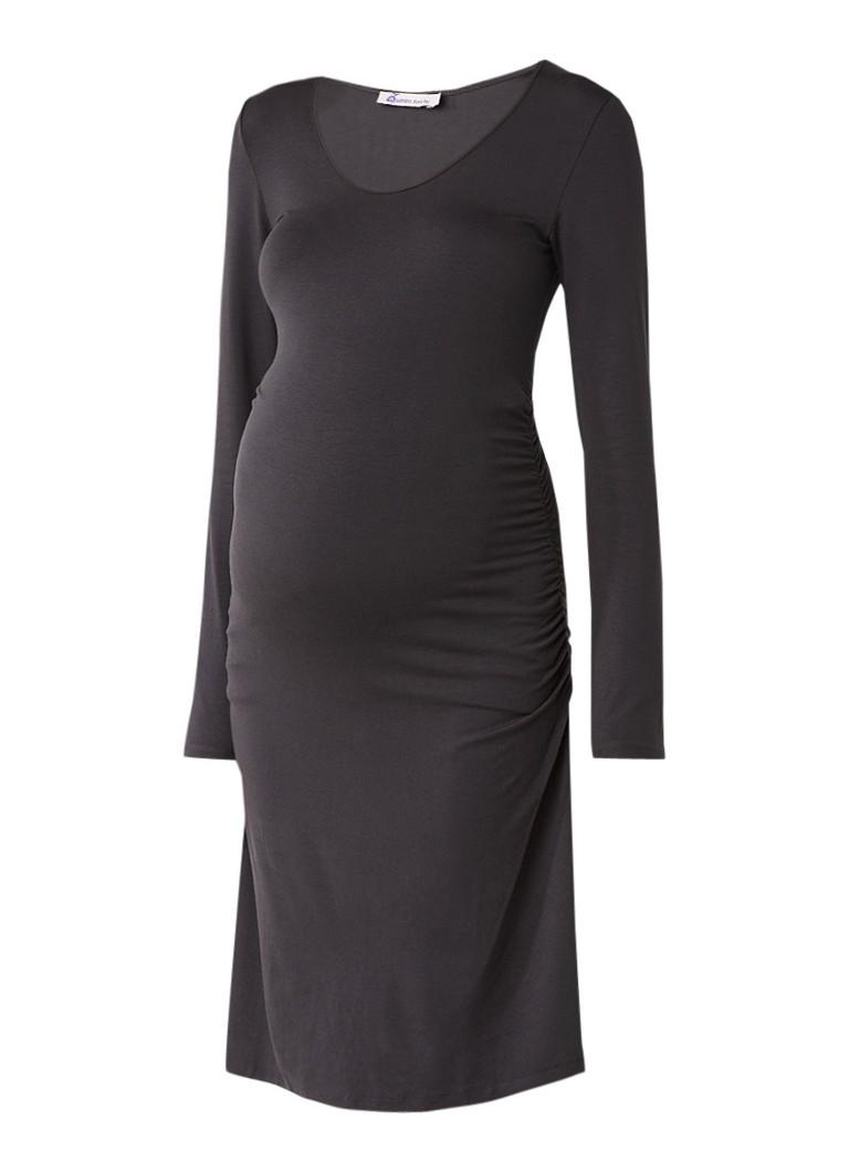 Queen Mum Basic zwangerschapsjurk van jersey antraciet