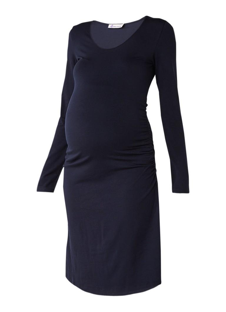 Queen Mum Basic zwangerschapsjurk van jersey donkerblauw