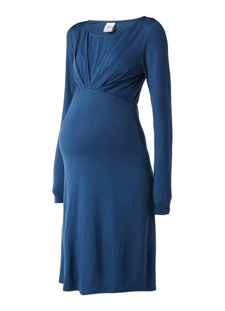 Mama Licious Lissy zwangerschapsjurk van jersey petrol