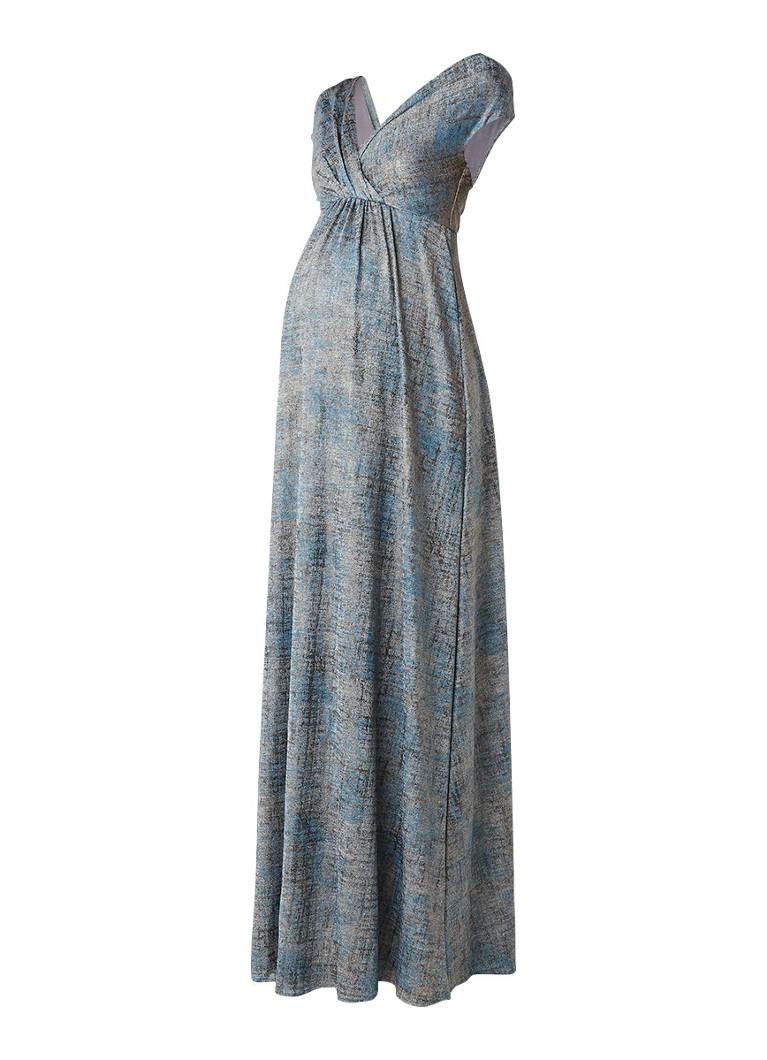 Tiffany Rose Francesca lange zwangerschapsjurk blauw
