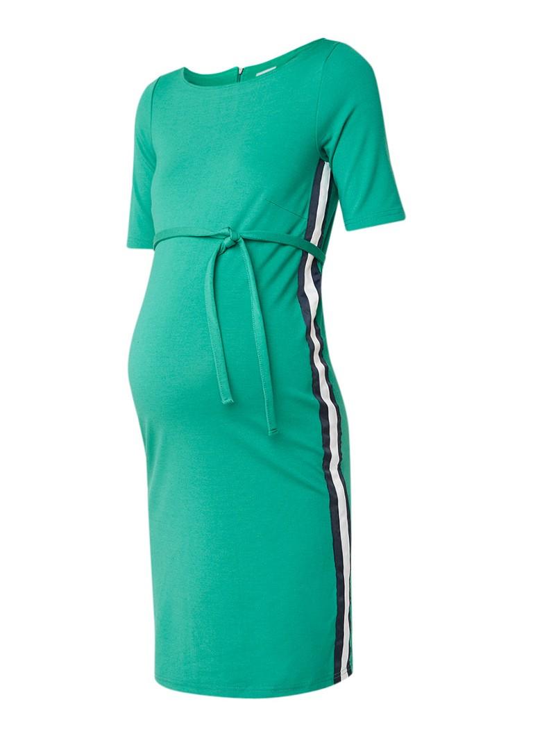 Mama Licious Blackie zwangerschapsjurk met contrastbies groen