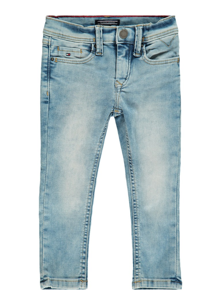 Tommy Hilfiger Steve slim tapered fit jeans in lichte wassing