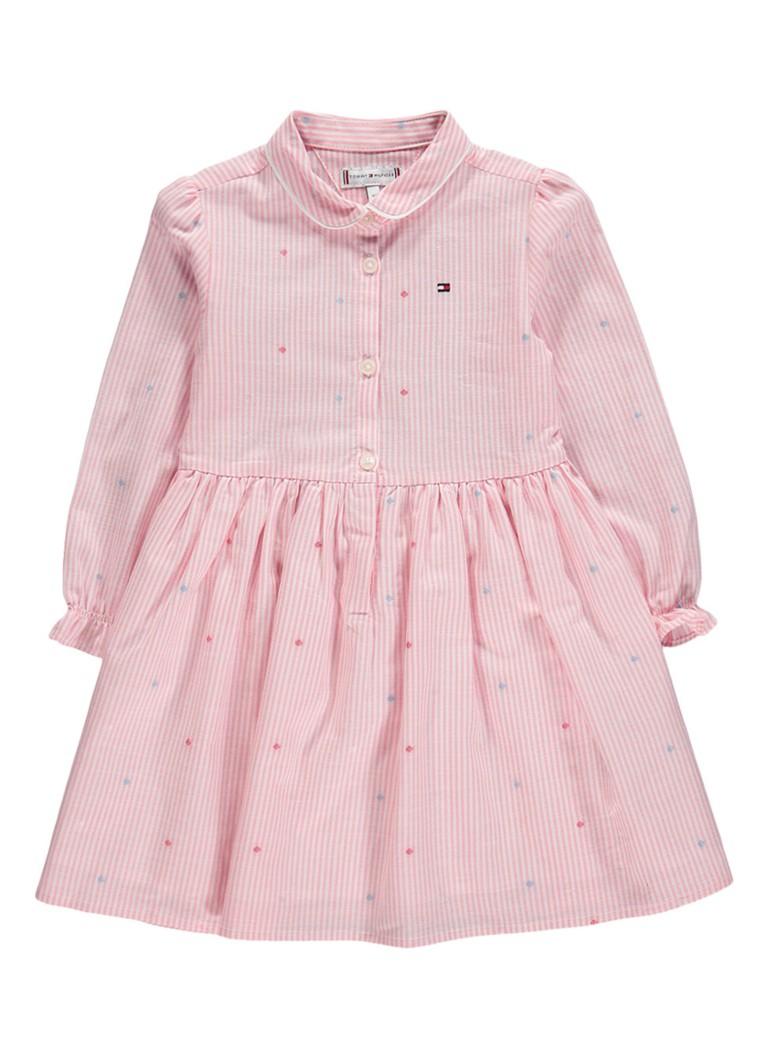 Tommy Hilfiger A-lijn jurk met geïntegreerde romper roze