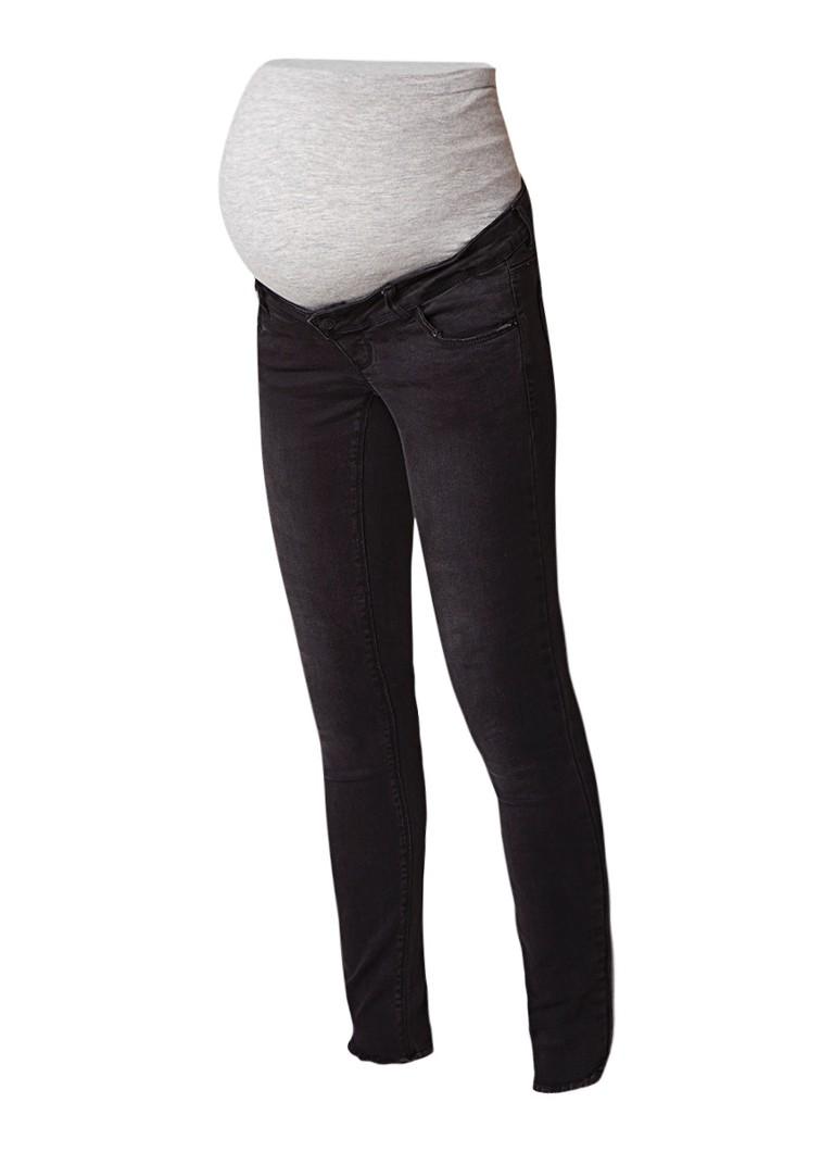 mamalicious London slim fit zwangerschapsjeans met gerafelde zoom