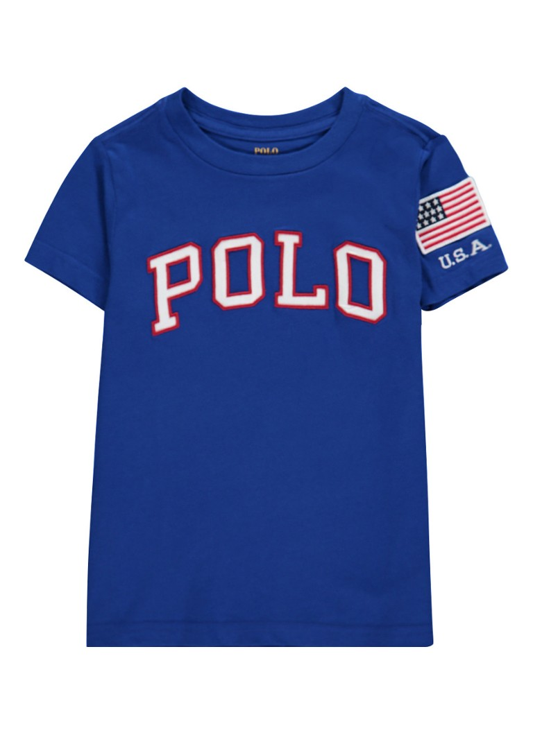 Ralph Lauren T-shirt met logo applicatie