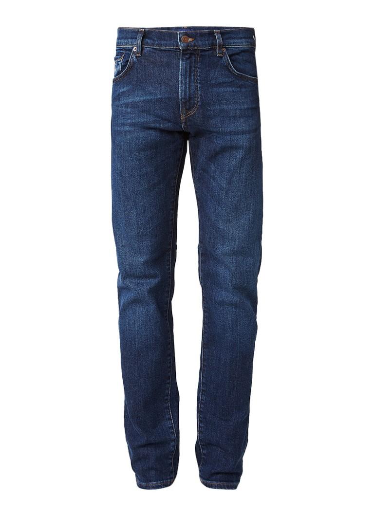 Gant Slim straight fit jeans met donkere wassing