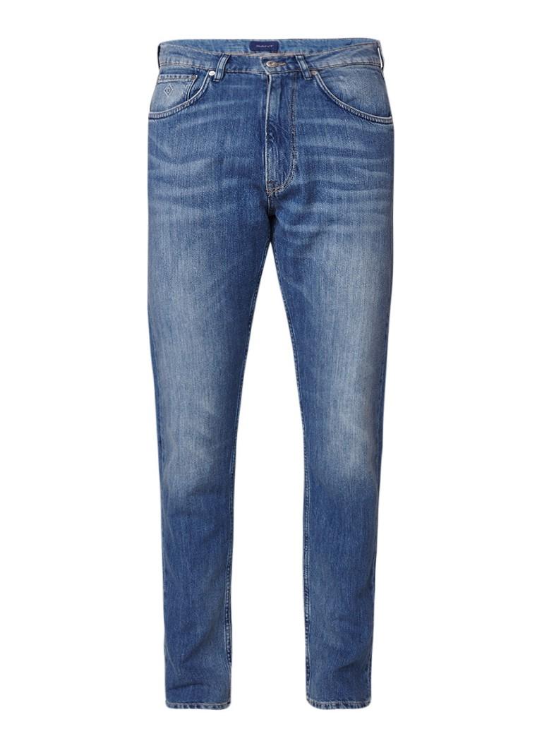 Gant Straight fit jeans met steekzakken en faded look