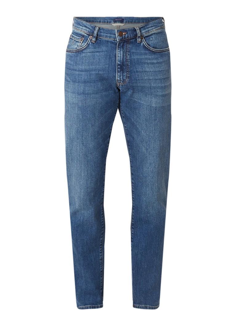 Gant Mid rise slim fit jeans met medium wassing