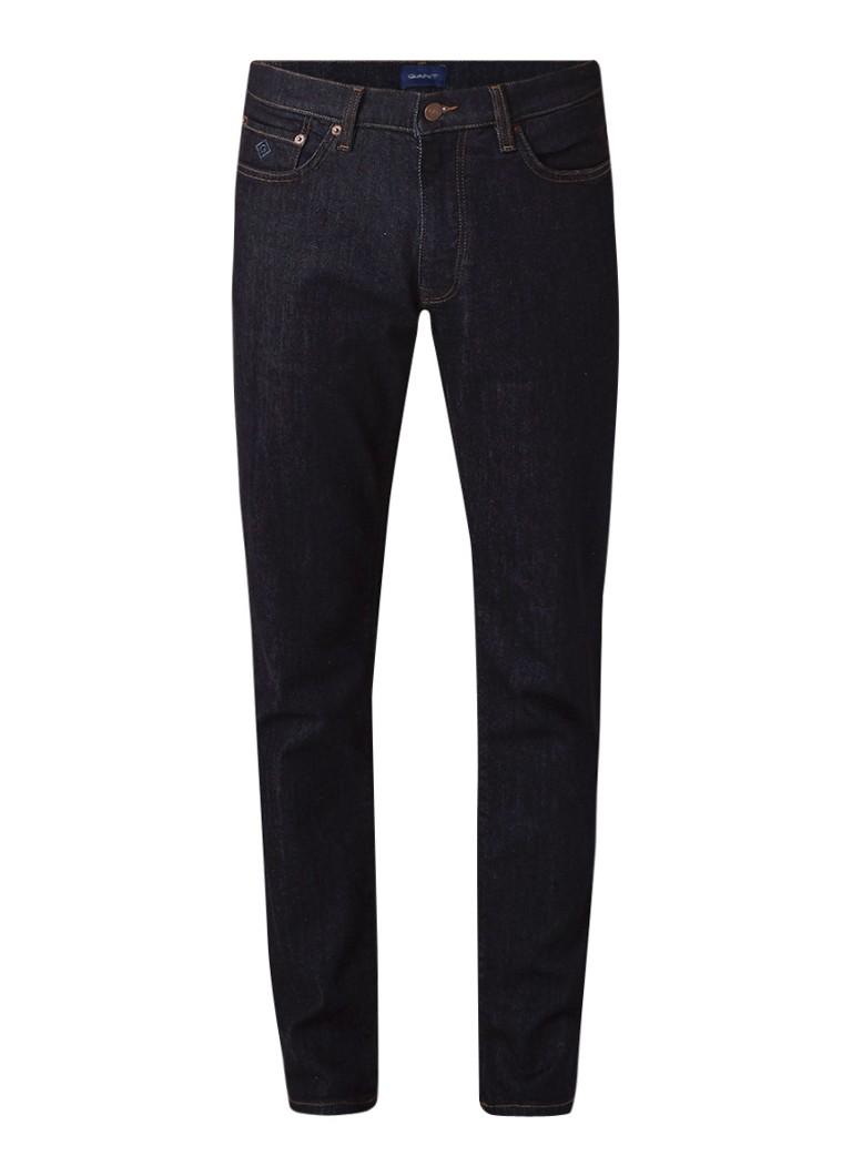 Gant Regular slim fit jeans met indigo garment dye