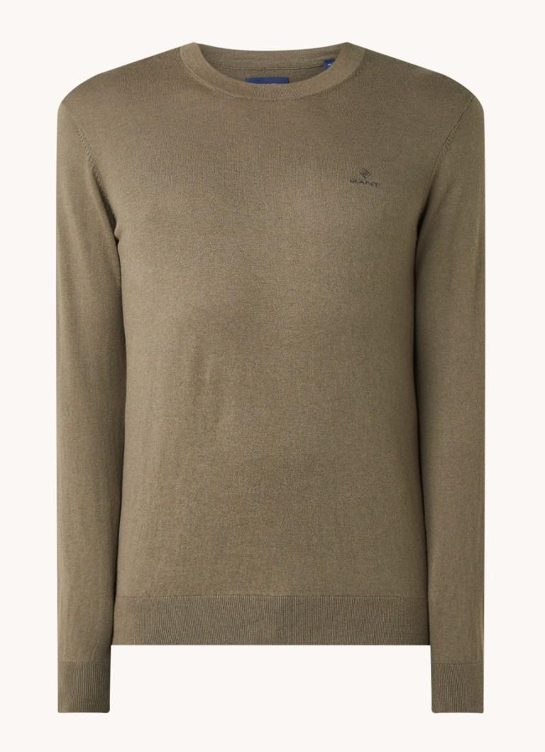Fijngebreide pullover in kasjmierblend