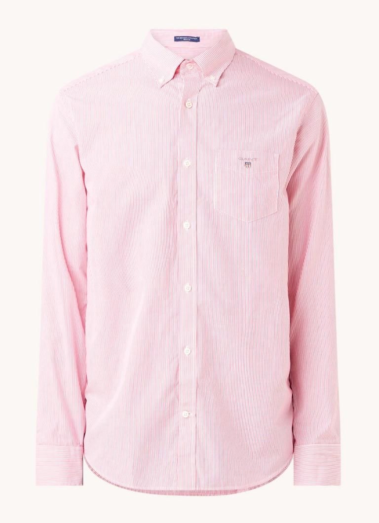 Banker regular fit overhemd met streepprint