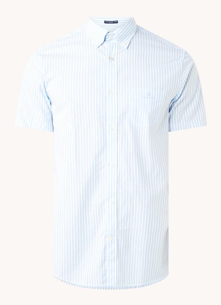 Regular fit overhemd met streepprint en borstzak