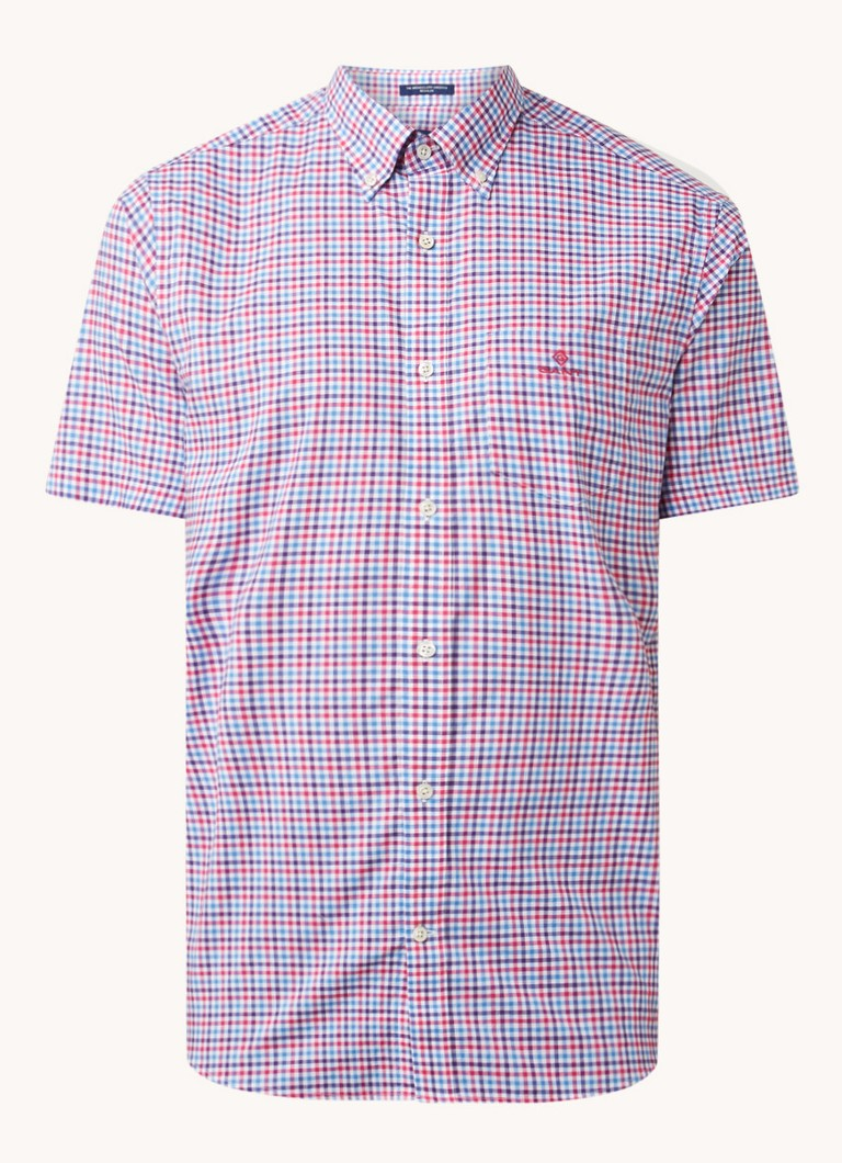Gingham regular fit overhemd met ruitdessin