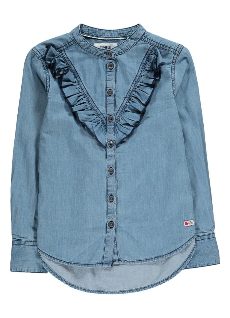 Tumble 'n Dry Astrid blouse van denim met volant