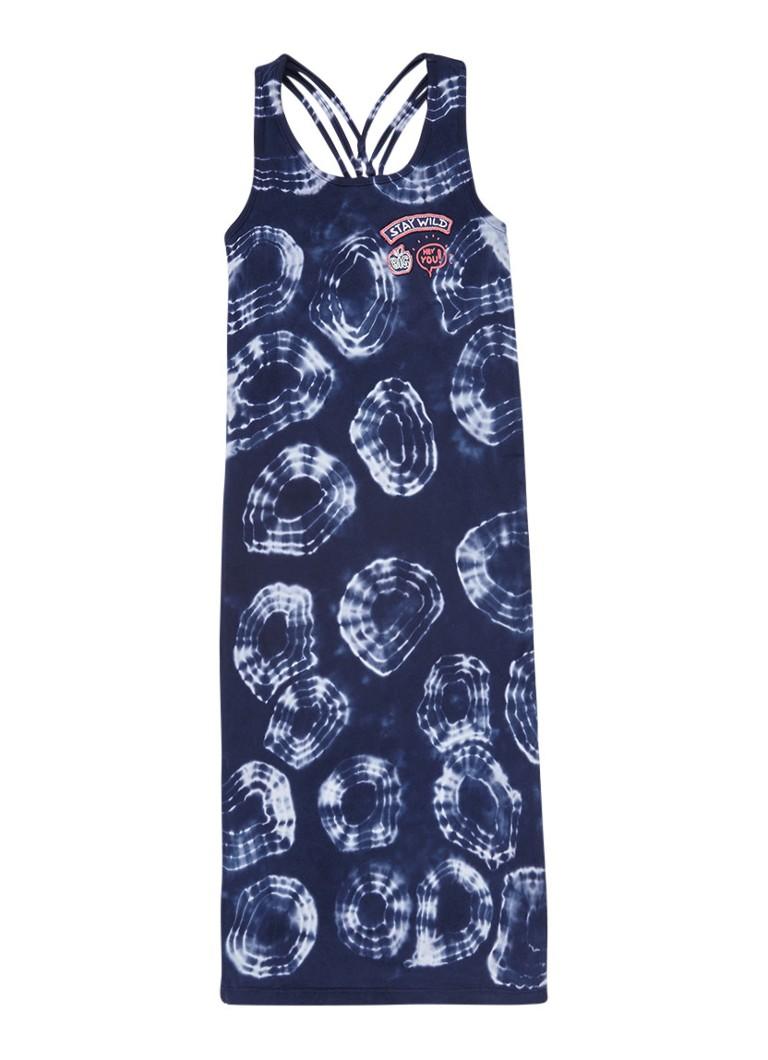 Blue Rebel Maxijurk met tiedye