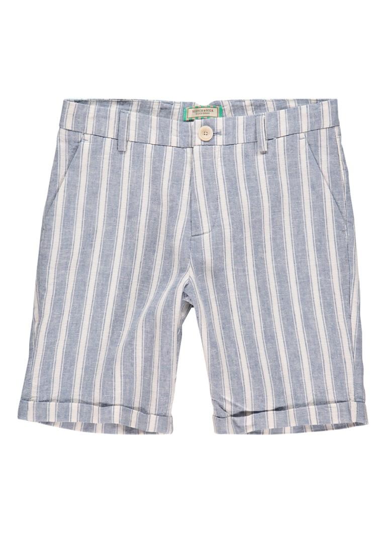 Scotch Shrunk Chino shorts met streepdessin
