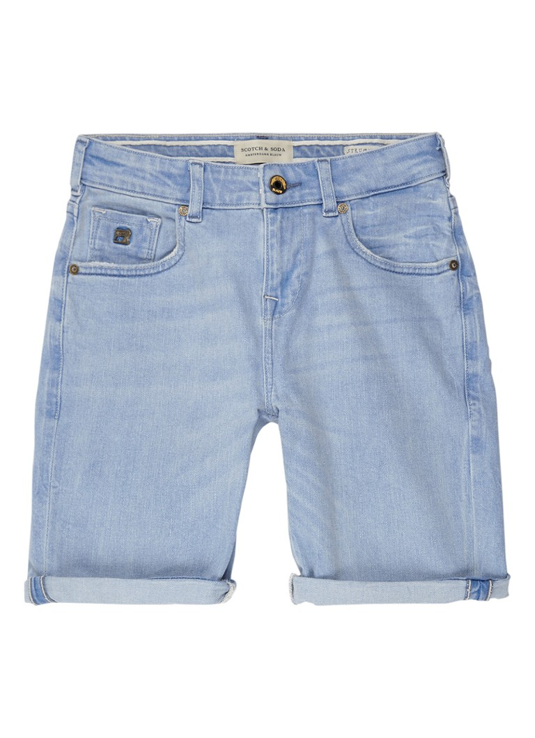 Scotch Shrunk Denim shorts met lichte wassing
