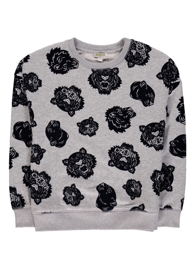 KENZO Sweater met logo flockprint