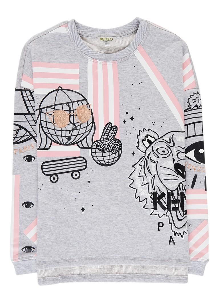 KENZO Cosmic sweater met logoborduring