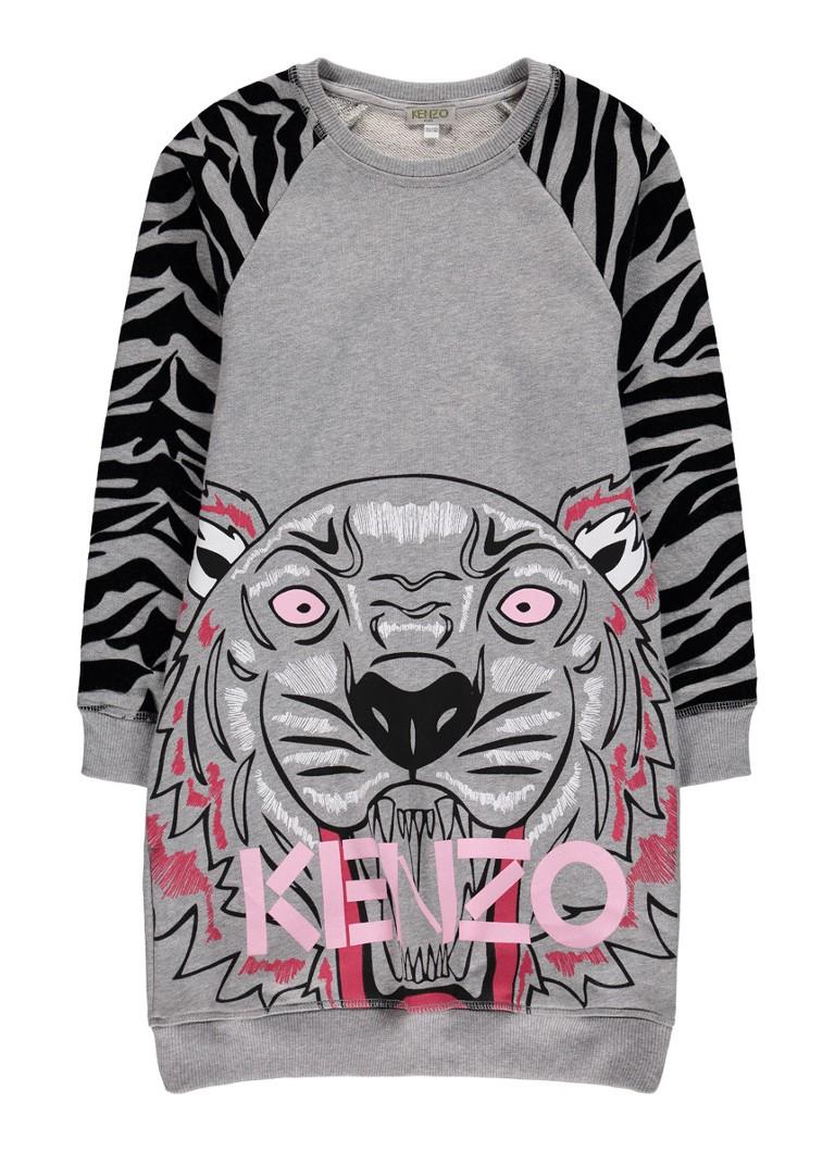 KENZO Tiger sweaterjurk met tijgerdessin op de mouw