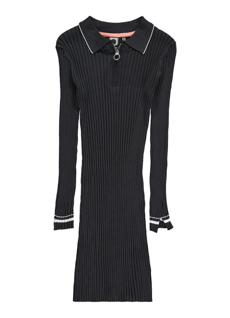 Tumble 'n Dry Andi ribgebreide aansluitende jurk met kraag