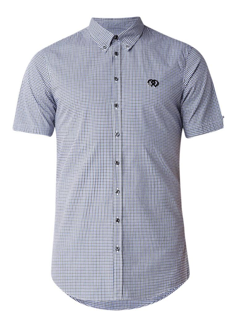 Dsquared2 Overhemd met ruitdessin en korte mouwen