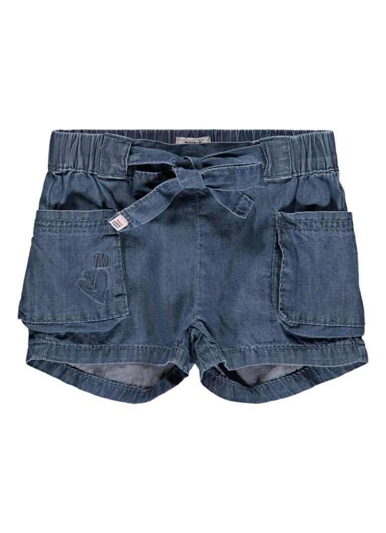 Tumble n Dry Tashira shorts van denim met strikceintuur