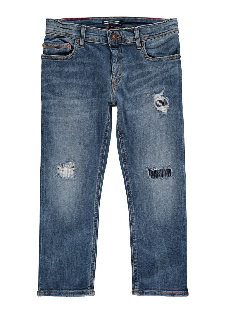 Tommy Hilfiger Lana straight fit jeans met destroyed details
